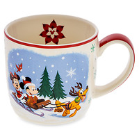 Santa Mickey Mouse and Friends Happy Holidays Mug | Disney Store