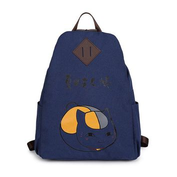 Japanese Anime Bag The new cartoon around the  Natsume Yuujinchou cosplay backpack fashion men and women canvas leisure backpack AT_59_4