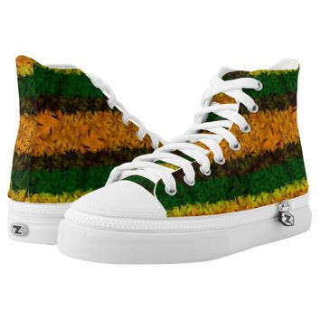 Tribal Reggae Nature Printed High Top Shoes Printed Shoes