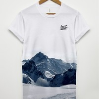 Inct apparel snowy mountain all over t shirt