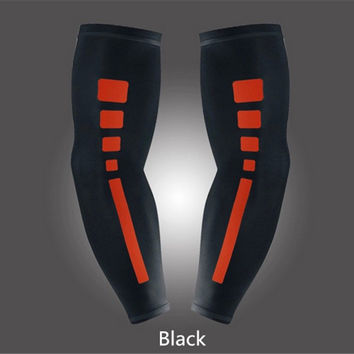 1Pc Black Sports Compression Arm Sleeve