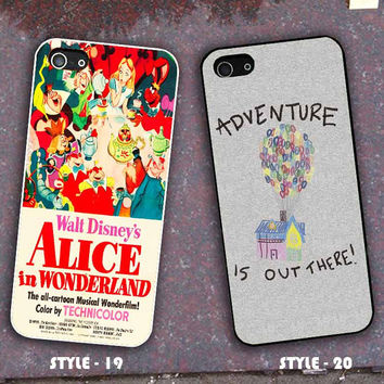 Vintage Disney Poster Alice In Wonderland Inspired & Walt Disney UP for Phone Case