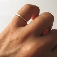 Skinny & Single Ring - Single Thin Stacking Ring in Sterling Silver