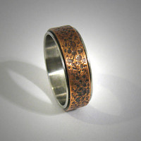 Mens wedding band Rustic Hammered Mens Ring Engagement Ring Mens Promise Ring Mens wedding Ring Unique Ring