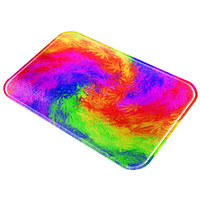 Pot Leaf Tie Dye All Over Glass Cutting Board