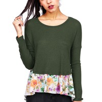 Flower Spill Knit Top