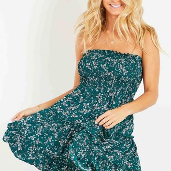 Gillian Dress - Green Floral