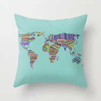 Overdose World Throw Pillow by Bianca Green