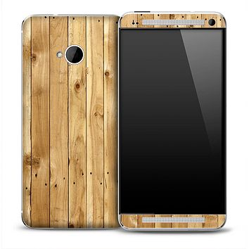 Wood Plank Skin for the HTC One Phone