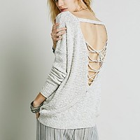 Free People Womens Back Interest Lace Up Pullover