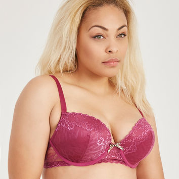 Plus Size Molded Lace Bra | Wet Seal Plus
