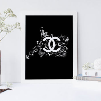 Coco Chanel art,fashion print, fashion decor, instant download,coco chanel poster, coco chanel watercolor print, wall art, home decor
