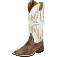 Women's Justin Tan Puma Bent Rail Cowgirl Boots