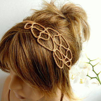Hair Jewelry, Gold Belt, Hair Accessories, Wedding Bridal Hair Band, Title, Hair Band, Gift Ideas, Bridesmaids, Wedding, Women's Accessories