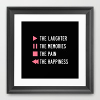 Play The Laughter, Pause The Memories Framed Art Print by LookHUMAN