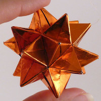 Orange Star Ornament Origami Star Paper by CreativeLifeByEmily