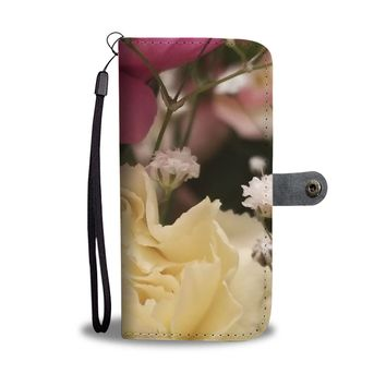 Flowers RFID Wallet Case