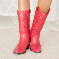 Red Hot Cowgirl Boots