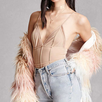 Strappy Sheer Bodysuit