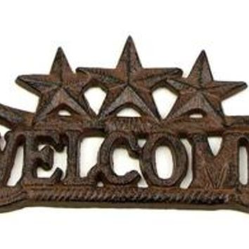 Cast Iron Welcome Sign Cowboy Boots