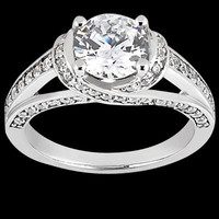 Gorgeous 2 carat diamonds anniversary ring white gold jewelry new