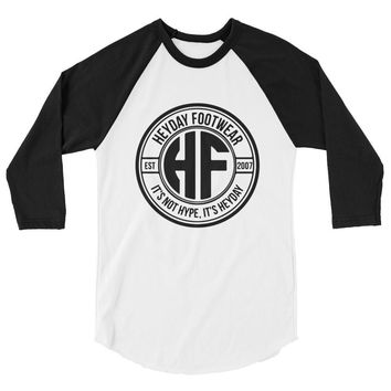 Unisex Raglan Baseball Shirt Black/White