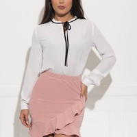 Vera Skirt - Dusty Rose