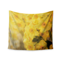 "Angie Turner ""Dreamy Daffodils"" Yellow Nature Wall Tapestry"
