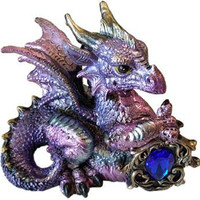 Pink/Purple Dragon w/ Stone 4""
