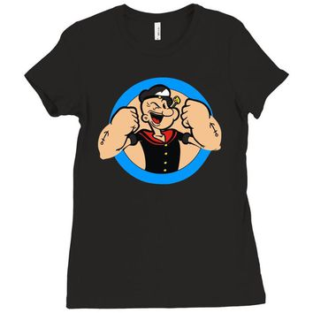 popeye le marin Ladies Fitted T-Shirt