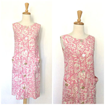 Mod 60s Dress - 1960s dress - sundress - Basila - aline - summer fashion - cotton dress - Medium