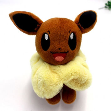 Pokemon GO New 8inch Cute Soft Plush Toys Doll Stuffed Cartoon Animal Children Kids Baby Toys Brown