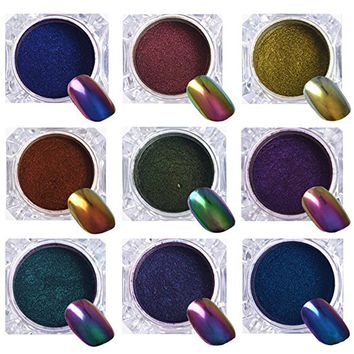 BORN PRETTY 1G Top-Grade Chameleon Nail Powder Manicure Nail Art Chrome Pigment Glitters...