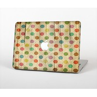 The Vintage Tan & Colored Polka Dots Skin Set for the Apple MacBook Air 11""