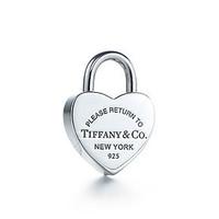 Tiffany & Co. -  Return to Tiffany™ heart lock charm in sterling silver.