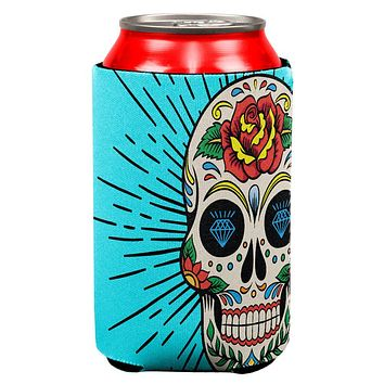 Sugar Skull All Over Can Cooler