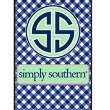 Simply Southern Preppy Phone Case for iPhone 5 in Navy Gingham