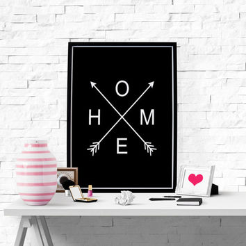 Home Wall Art Large Wall Art Large Print Large Art Large Poster Modern Decor Arrow Print Home Decor House Printable Wall Art Apartment Decor