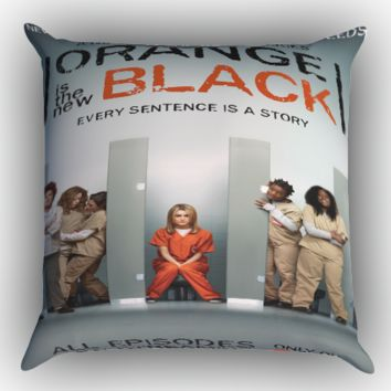 Orange Is The New Black X0237 Zippered Pillows  Covers 16x16, 18x18, 20x20 Inches