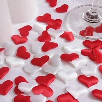 50pcs/bag Wedding decoration throwing heart petals wedding table decoration valentines day decoration party supply