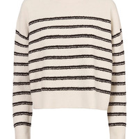 Vince Cropped Stripe Sweater - INTERMIX®