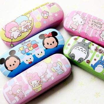 Kawaii Tsum Tsum Totoro Little Twin Star My Melody PU Cosmetic Bag Glasses Cases Mochilas For Kids Christmas gifts Brinquedos