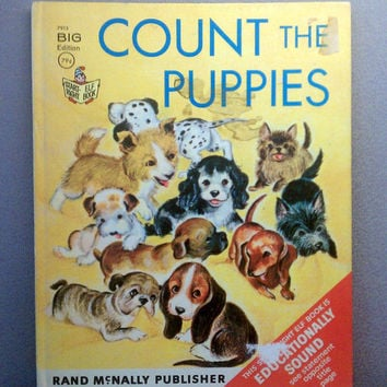 1966 Count the Puppies - Vintage Childrens Book