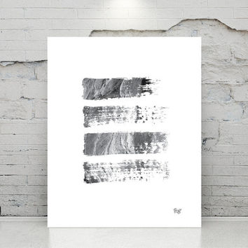 black & white wall decor, printable art, Abstract art watercolour art poster Minimal Modern Abstract Digital poster print instant download.