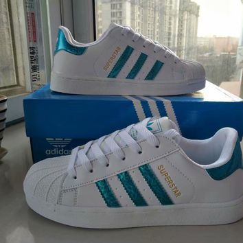 """""""Adidas"""" Fashion Casual Unisex Small White Shoes Couple Shell Head Plate Shoes Sneakers"""