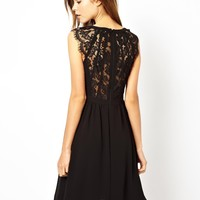 Warehouse Lace Back Soft Skirt Dress
