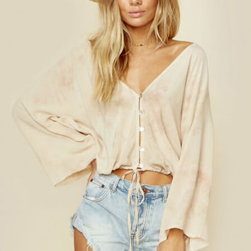 Maia Coconut Button Tie Top