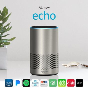All-new Echo (2nd Generation) with improved sound, powered by Dolby, and a new design – Silver Finish