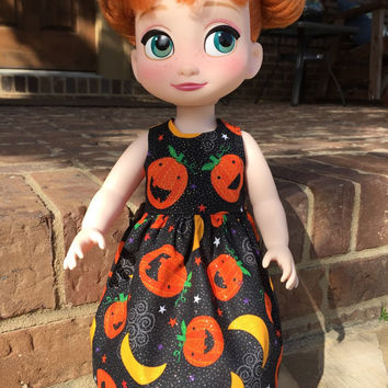 Disney Animator Doll Sparkle Pumpkin Dress for Halloween
