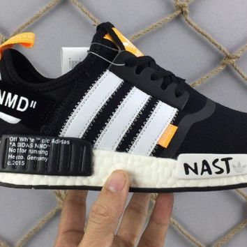 Mens Adidas Custom bianco White X Off NMD
